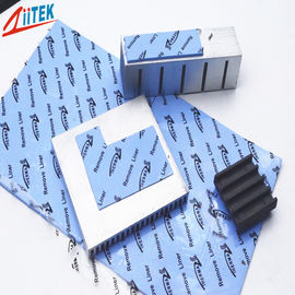 Blue Color Electronic Thermal Gap Filler , Gpu Ic Chip Thermal Conductive Pad